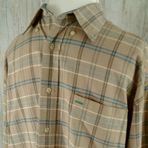 Tommy Hilfiger Long Sleeve Cotton Plaid Shirt L